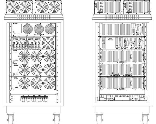 Система питания магнетронов распыления и потенциала смещения «ИВЭ-278-02SDG»