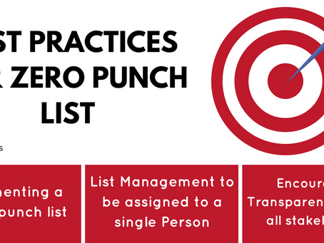 Best Practices for a Zero Punch list