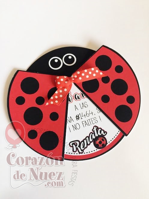 Invitación Lady bug