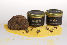 Black summer truffle polenta