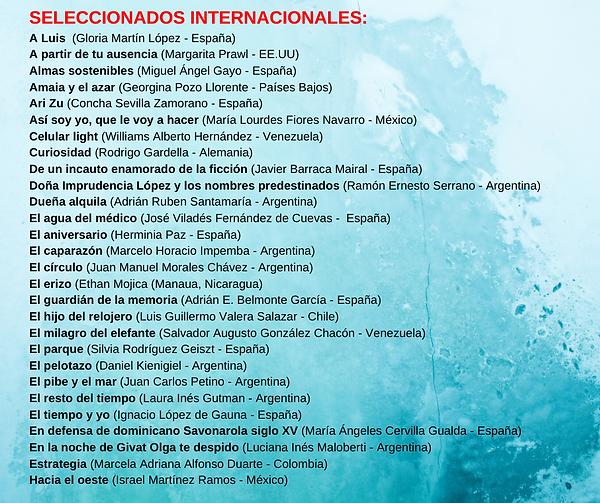SELECCIONADOS INTERNACIONALES PARA EL LI
