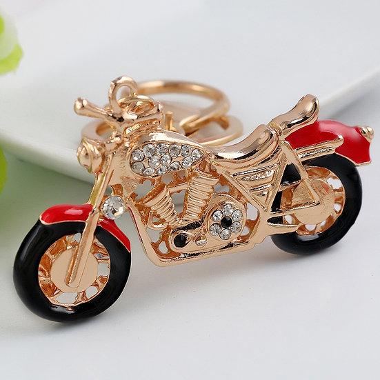 Llavero y accesorio para cartera: motocicleta