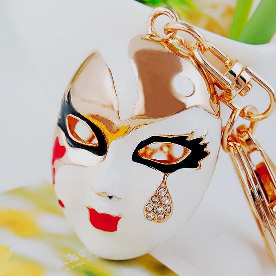 Llavero y accesorio para cartera: máscara veneciana