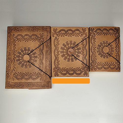 Libro cuero MEDIANO: Mandala