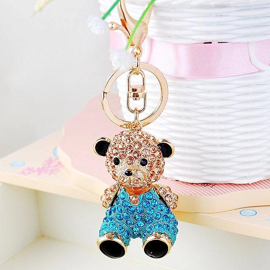 Llavero y accesorio para cartera: oso con piedras