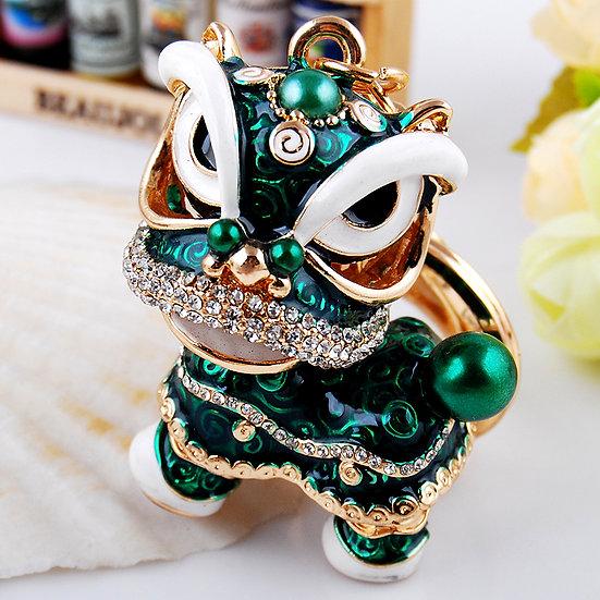 Llavero y accesorio para cartera: dragón de la suerte