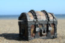 Old Classic Wood and Iron Treasure Chest
