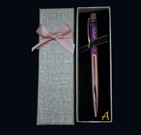 Bolígrafo GLITTER - Oro rosa