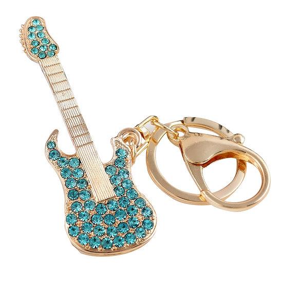 Llavero y accesorio para cartera: guitarra rock