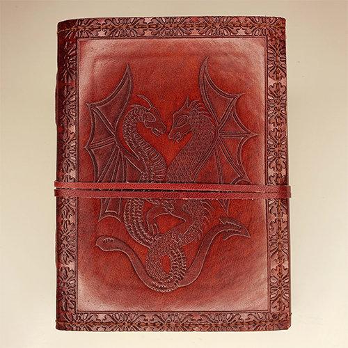 Libro cuero: Dragones
