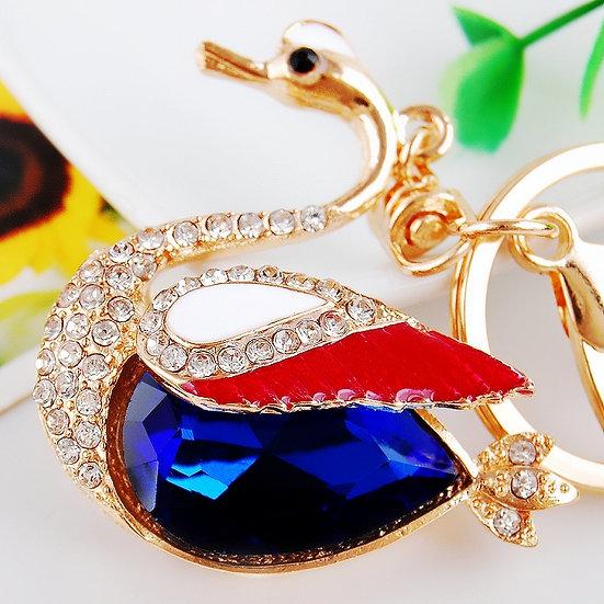 Llavero y accesorio para cartera: cisne