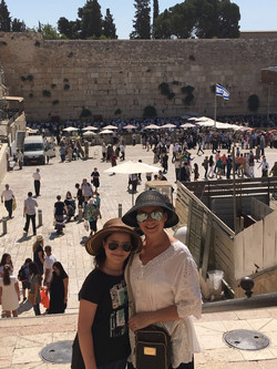 Western wall with mom