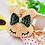 Thumbnail: Llavero y accesorio para cartera: Kitty con moña