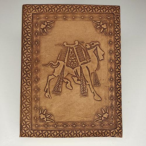 Libro cuero: Camello