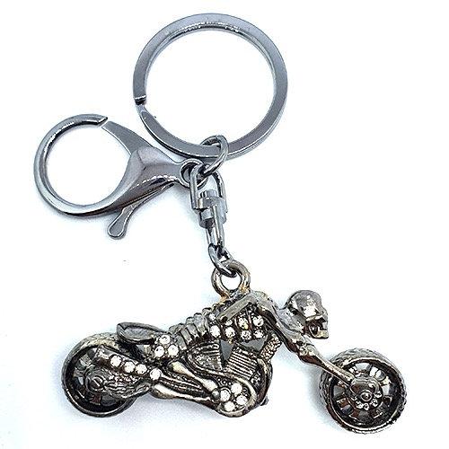 Llavero y accesorio para cartera: motocicleta steampunk