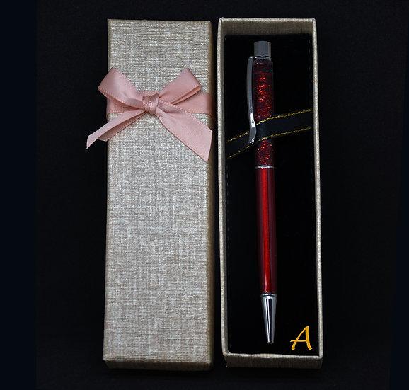 Bolígrafo GLITTER - Roja