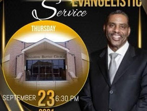 Outdoor Service 9/23 6:30 pm