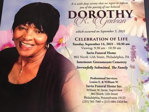 Condolences to the Dorothy Gadsden Family