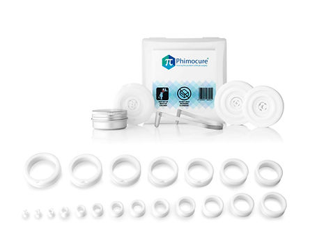 Phimocure phimosis rings. A home stretching kit to resolve a tight foreskin