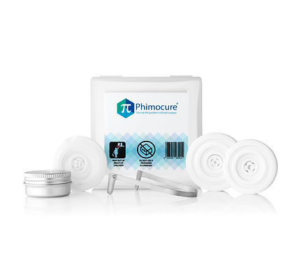 Complete Phimocure Phimosis Rings kit with an erection enhancing ring