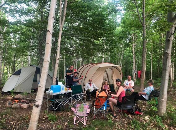 Camping at Riverside Retreat