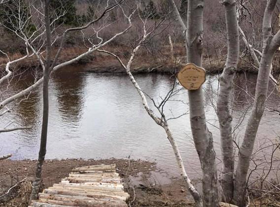 Bridge to Cheticamp River at Riverside Retreat Cape Breton