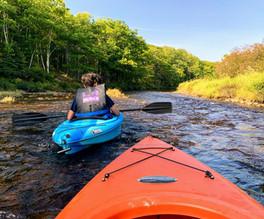 Kayak the Cheticamp river in fall
