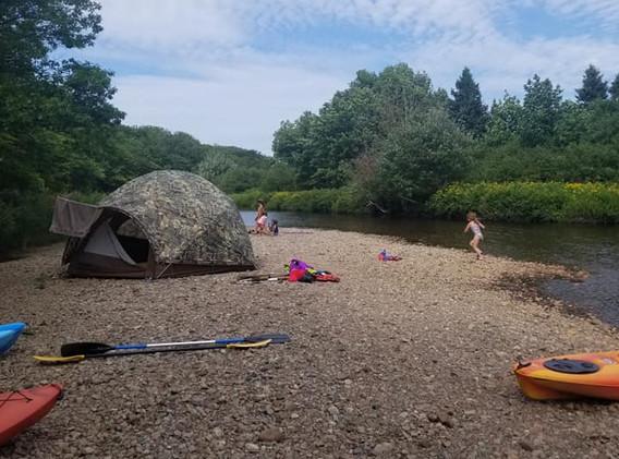 Camping along Cheticamp River at Riverside Retreat Cape Breton