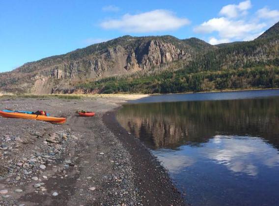 Kayaking on Cheticamp River at Riverside Retreat