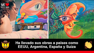Emiss Caldas, la artista llanera que pinta con la boca