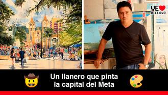 Atila Galindo Velásquez, el artista que inmortaliza a Villavicencio por medio de acuarelas