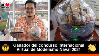 El llanero que construye buques y embarcaciones dentro de botellas de vidrio