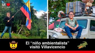 Francisco Vera disfrutó de la riqueza gastronómica, turística y natural de Villavicencio