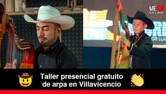 Taller de arpa con Edwin Castañeda, uno de los arpistas más destacados