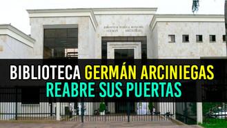 A partir del 1 de febrero la Biblioteca Germán Arciniegas abre sus puertas