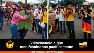 Los llaneros protestaron hoy en Villavicencio al son de bandola y maracas