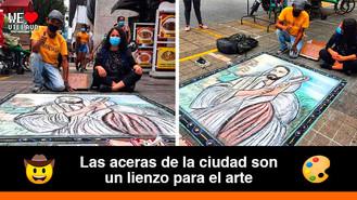 Robinson Lotero se encuentra en Villavicencio con su arte callejero