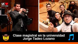 "Villavicenses viajaron a Bogotá a un taller con el famoso trompetista ""Pacho"" Flores"