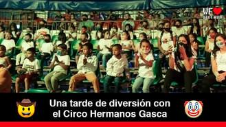 100 niños del barrio la Nohora disfrutaron de un show gratuito en el circo de Los Hermanos Gasca