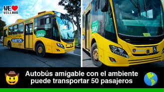 Villavicencio presentó el nuevo autobús a gas natural para servicio público