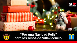 Donatón de regalos para los niños y niñas de Villavicencio