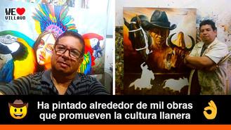 Orlando Vallejo Saavedra y sus obras que retratan la belleza del llano