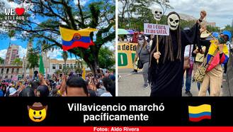 Así se vivió la marcha contra la reforma tributaria en Villavicencio