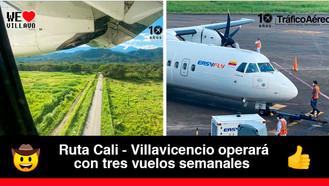 En mayo volverán los vuelos Cali - Villavicencio de EASYFLY