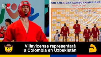 Juan Sebastián Contreras se prepara para el Campeonato Mundial de Sambo