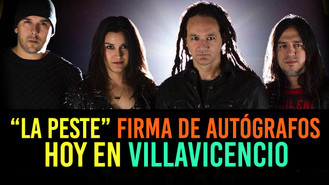 La Pestilencia hoy con sus fans en Villavicencio