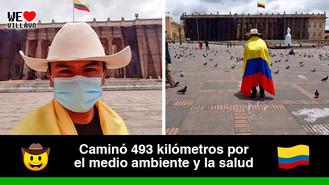 Luis Ángel Luna llegó caminando a Bogotá desde el Casanare