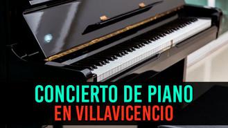 El pianista Luis Guillermo Córdoba Agudelo se presenta en Villavicencio