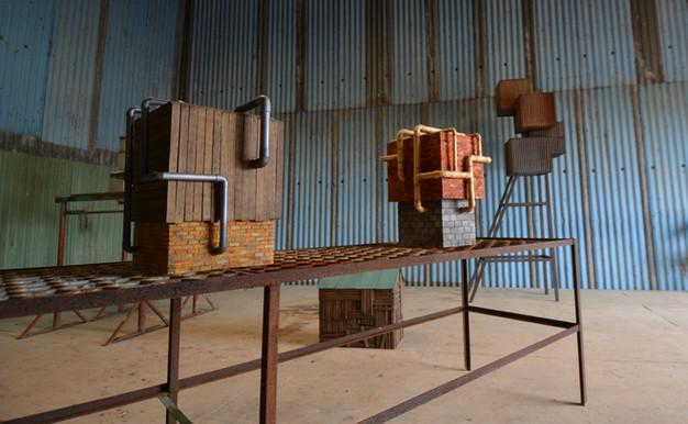 models inside barn