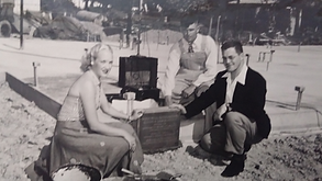 Dr. Sherman and wife breaking ground in 1977